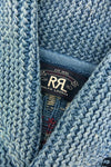 Cotton Blend Shawl Cardigan - Sky Blue