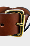 Standard Belt - Saddle Tan/Brass