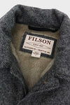 Lined Wool Cape Coat - Gray/Black Twill
