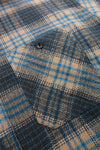 Twill Check Long Sleeve Work Shirt - Blue