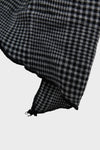 Long Scarf - Dark Grey Brushed Glen Plaid