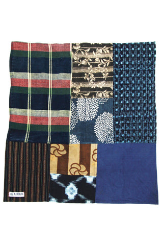 Patchwork Bandana - Kasuri and Plaid