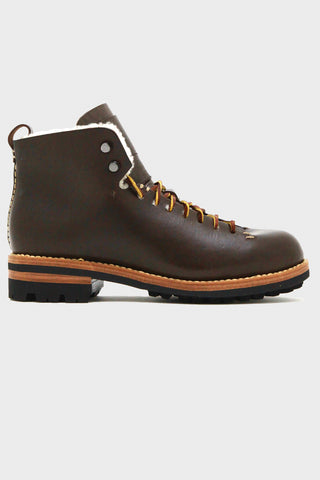 Hiker with Cream Wool Lining - Dark Brown