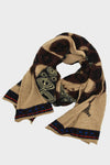 Compressed Wool Scarf WEAVING SNAKES - Beige