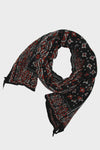 Compressed Wool Scarf BIG MAMA BANDANA - Black