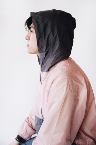 nanamica Packable Cruiser Jacket - Pink/Gray