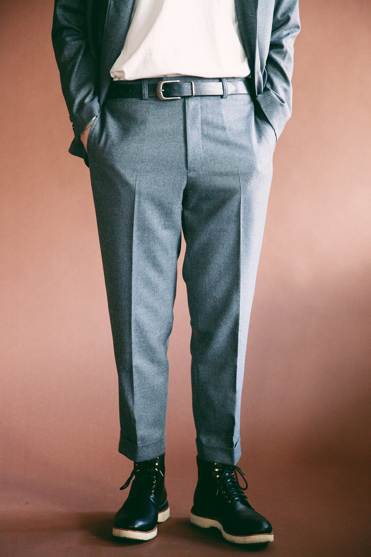 Beams Plus - Ivy Flannel Trousers - Grey - Canoe Club