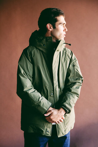 nanamica GORE-TEX Down Coat - Khaki