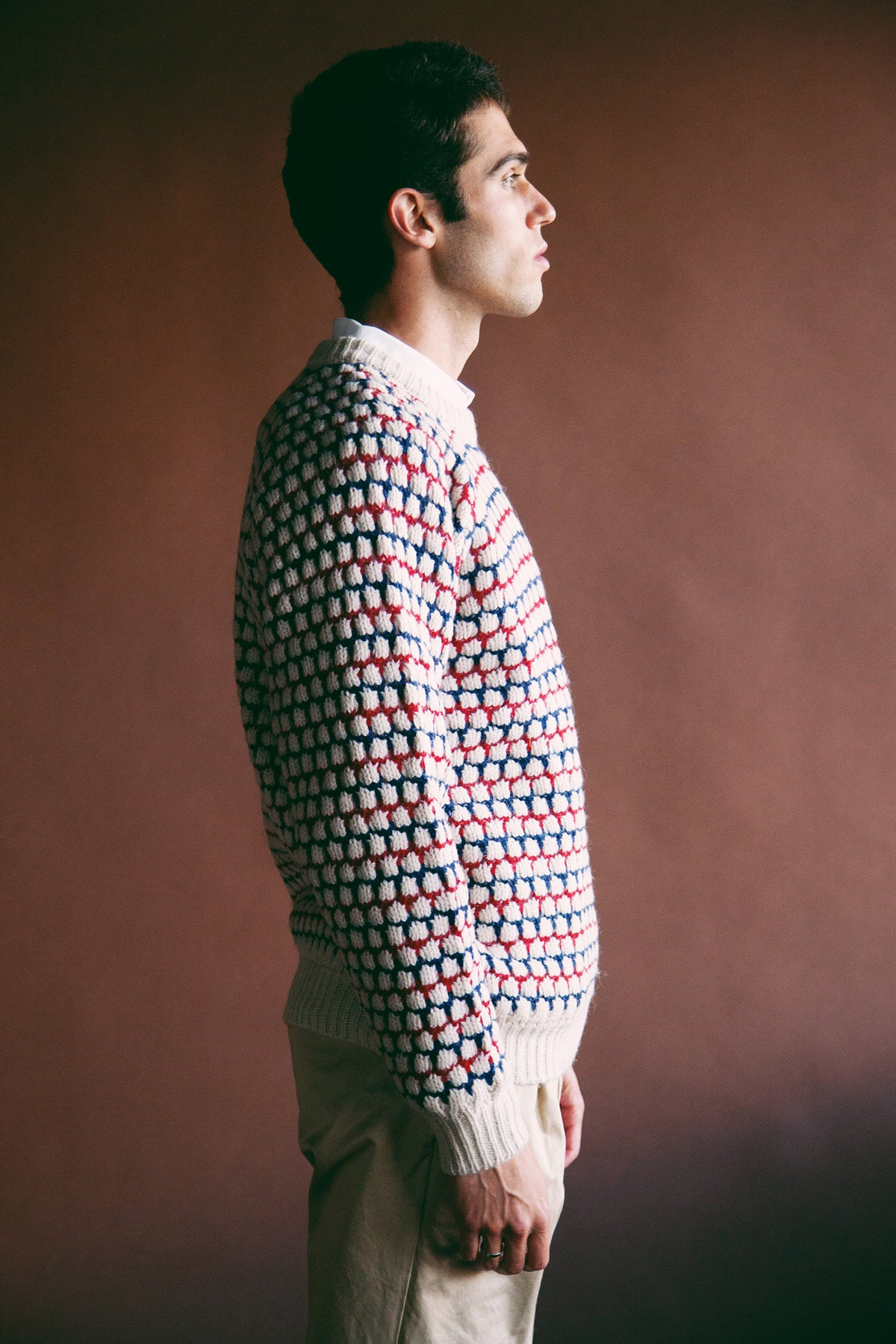 Beams Plus - Popcorn Pattern Sweater - Off White - Canoe Club