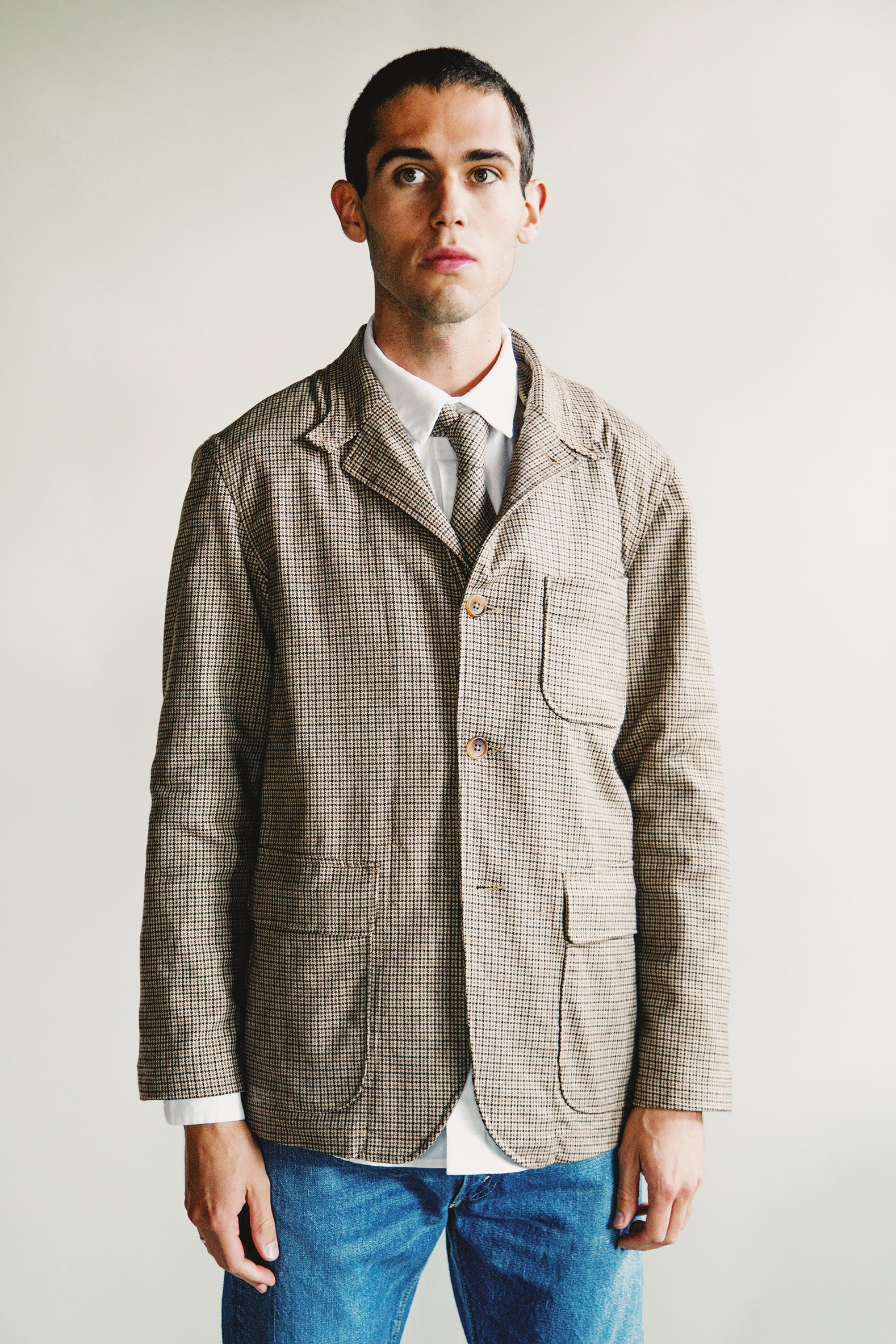Engineered Garments - Loiter Jacket - Brown Wool Poly Gunclub Check - Canoe Club