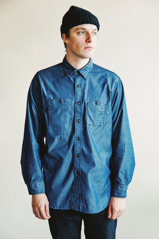 engineered garments Work Shirt - Dark Blue Light Weight Denim