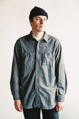 engineered garments Work Shirt - Dark Grey Brushed Cotton Twill