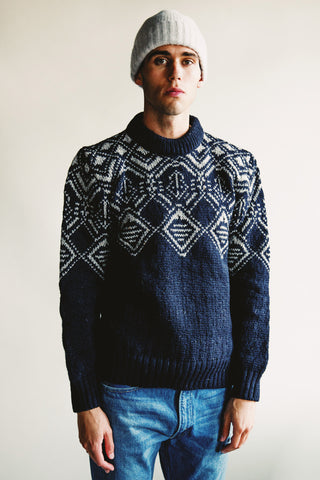 howlin Knitted Memories sweater - Navy
