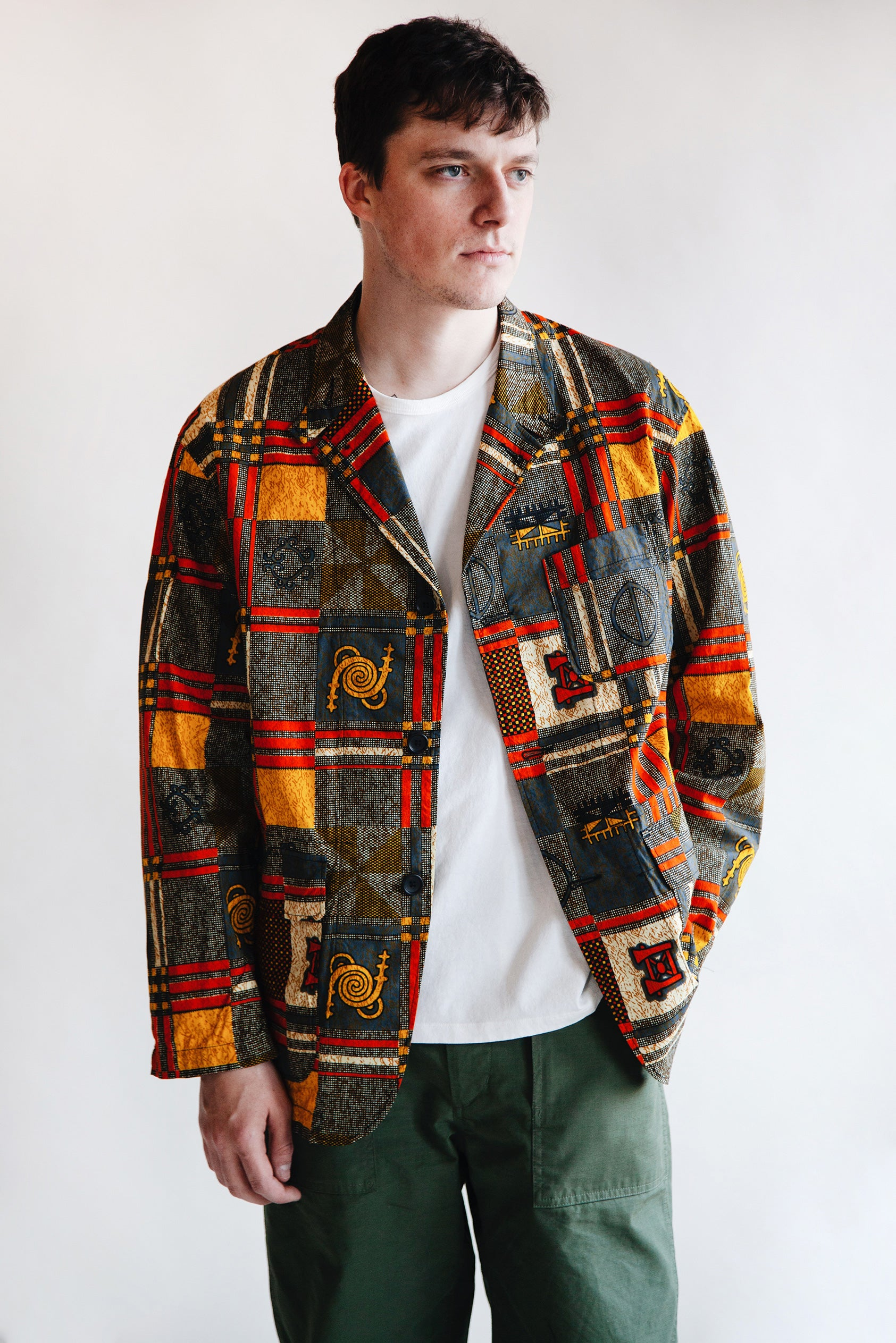 Engineered Garments - Loiter Jacket - Black/Gold African Print - Canoe Club