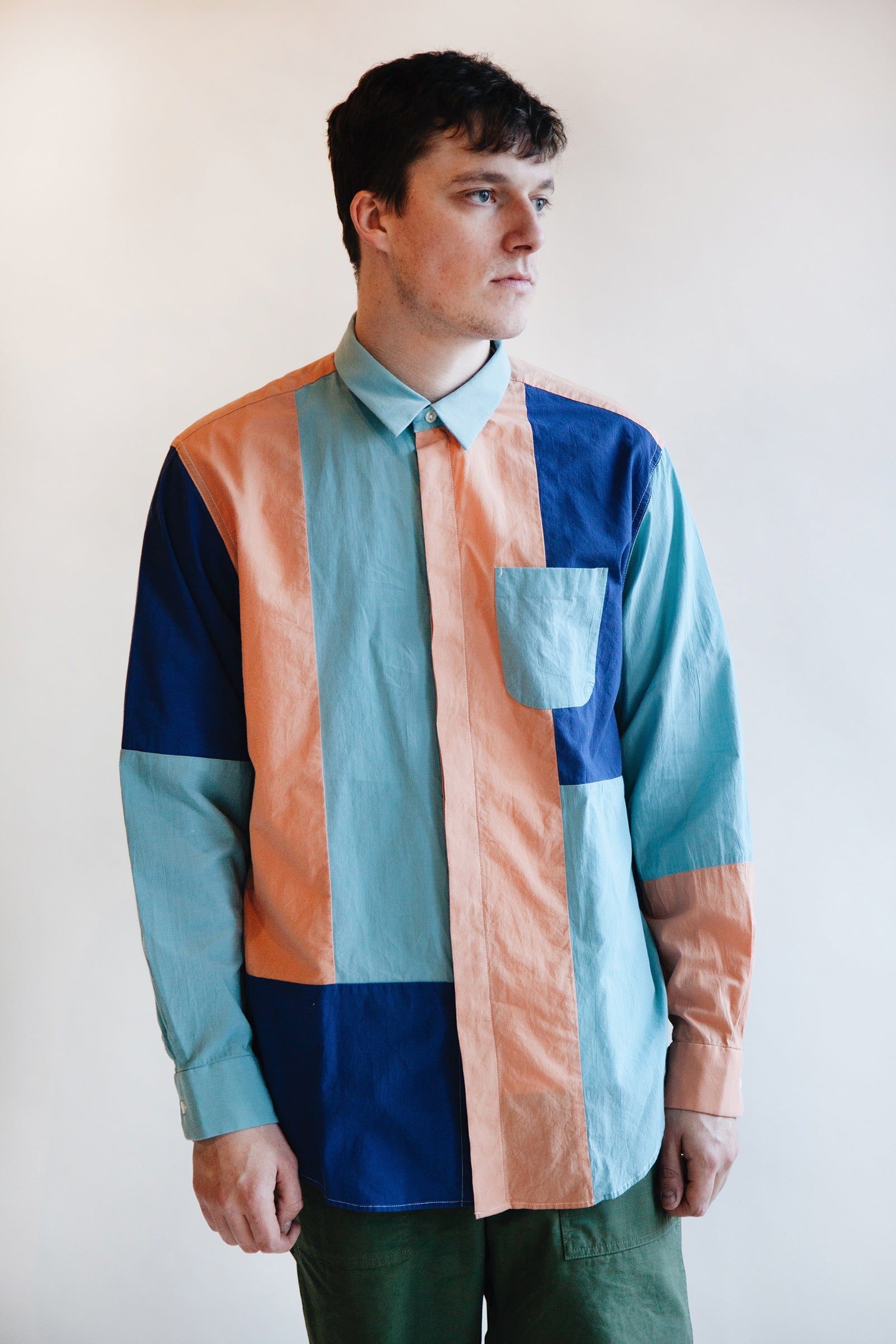 Engineered Garments - Combo Short Collar Shirt - Turquoise Lawn - Canoe Club