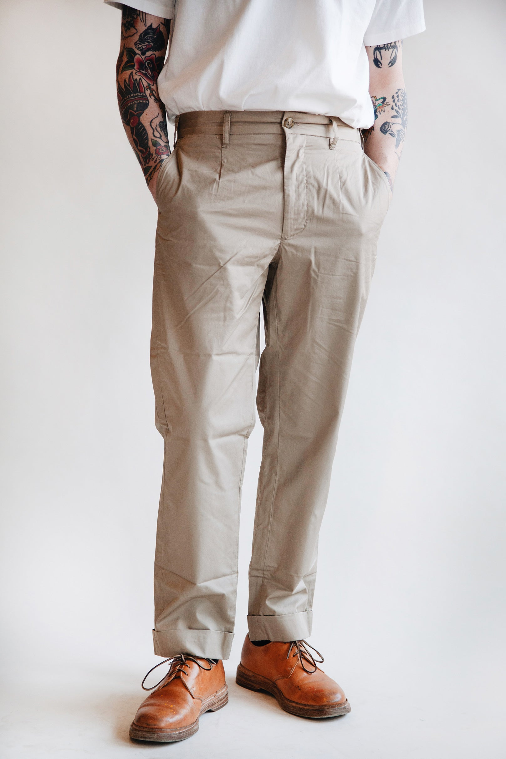 Engineered Garments - Andover Pant - Khaki Twill - Canoe Club