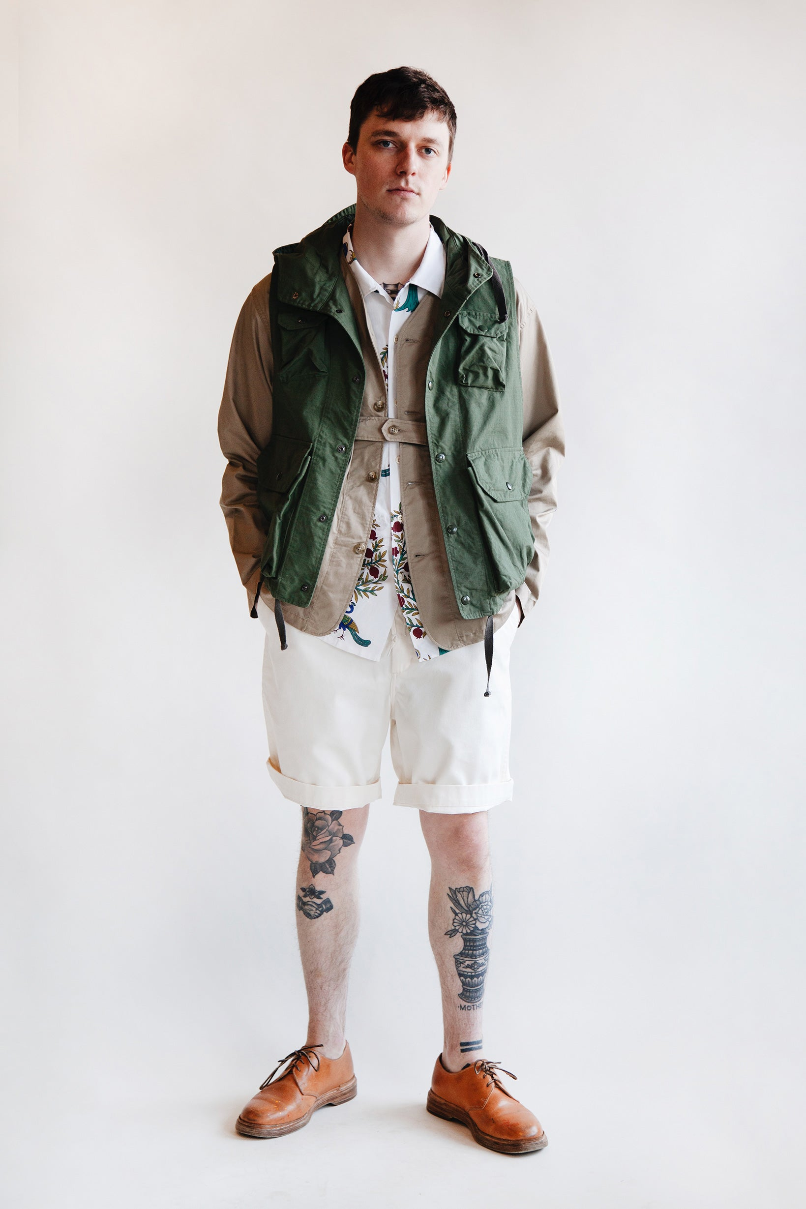 Engineered Garments - Field Vest - Olive Cotton Ripstop - Canoe Club