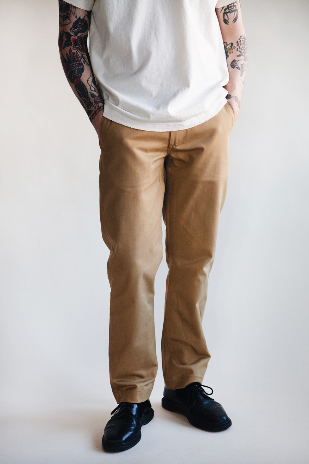 orSlow - Slim Fit Army Trousers - Khaki - Canoe Club