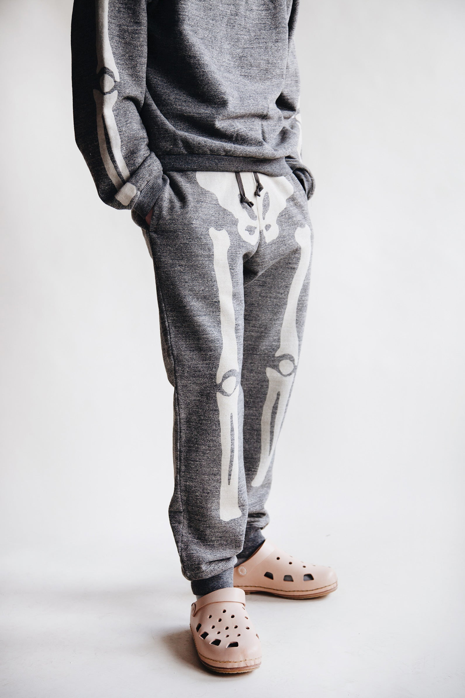 Kapital - Grandrelle Fleece Knit Sweat Pants (BONE) - Charcoal - Canoe Club