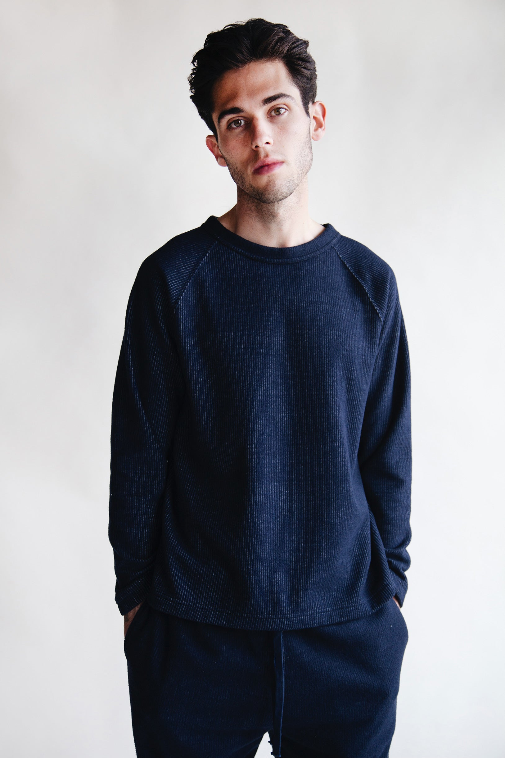ts(s) - Raglan Sleeve Crewneck Shirt - Navy - Canoe Club