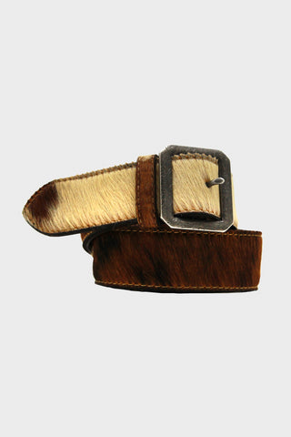 RRL Patterson Belt - Italian Hair On Suede
