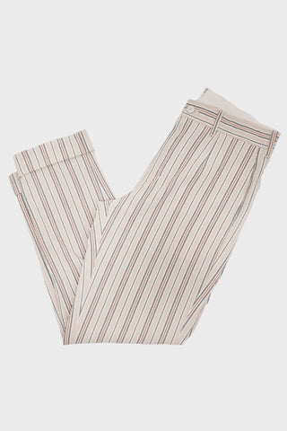 engineered garments Andover Pant - Beige Orange Seersucker Alternate Stripe