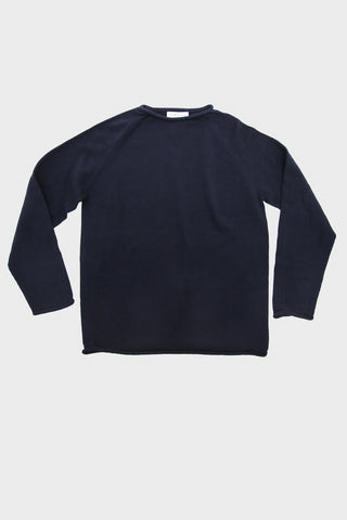Gong Plain Crew - Navy Cotton Knit