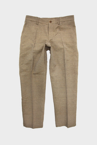 Hand Me Down Trouser - Brown Pin Check