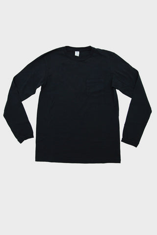 Tubular Long Sleeve Pocket Tee - Black