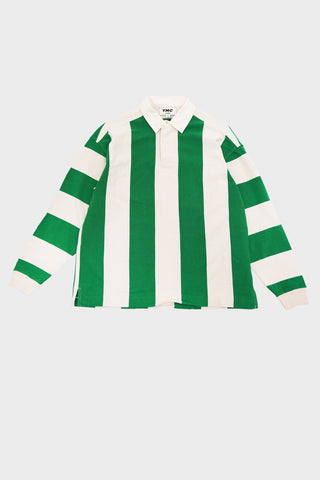 you must create (ymc) JJ Rugby Shirt - Ecru/Green