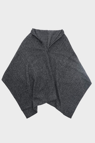 engineered garments Button Shawl - Grey Poly Wool Herringbone
