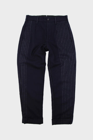 engineered garments Andover Pant - Dark Navy Wool Chalk Stripe