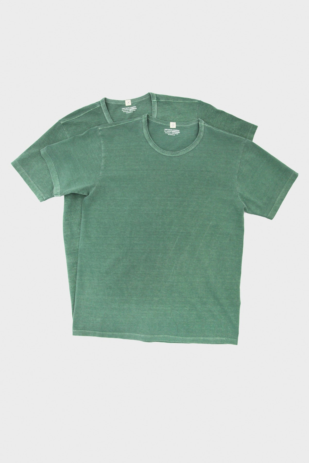 Lady White Co. - Canoe Club Two Pack T-Shirts - Chalk Green - Canoe Club