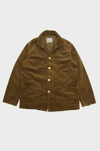full count Corduroy Farmers Short Coverall - Beige