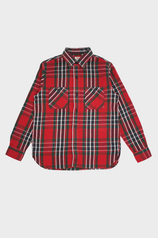 sugar cane Twill Check Work Shirt - Red
