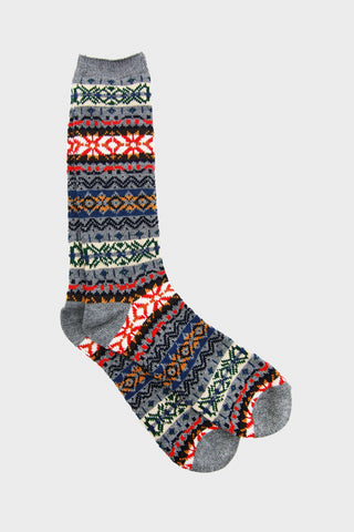 FairIsle Crew - Grey