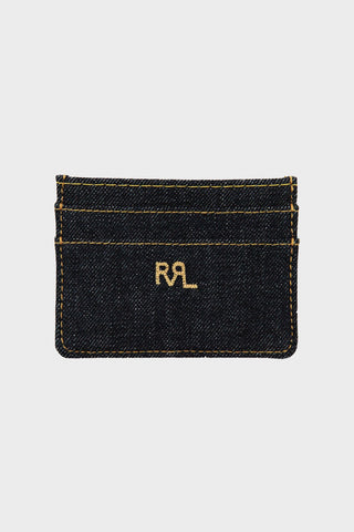 rrl ralph lauren Indigo Denim Card Holder