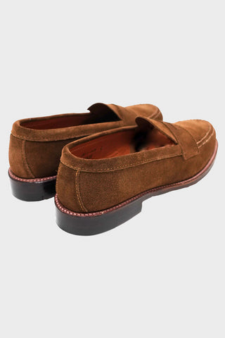 alden shoes Penny Loafer - Oiled Leather Flexwelt Sole - Brown Suede