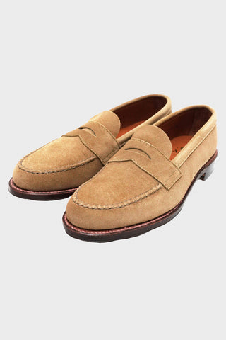 alden shoes Penny Loafer - Oiled Leather Flexwelt Sole - Tan Suede