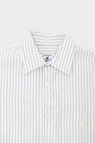 arpenteur Doris Shirt - White/Blue Stripe Oxford