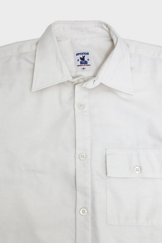 arpenteur Doris Shirt - White Cotton Flannel