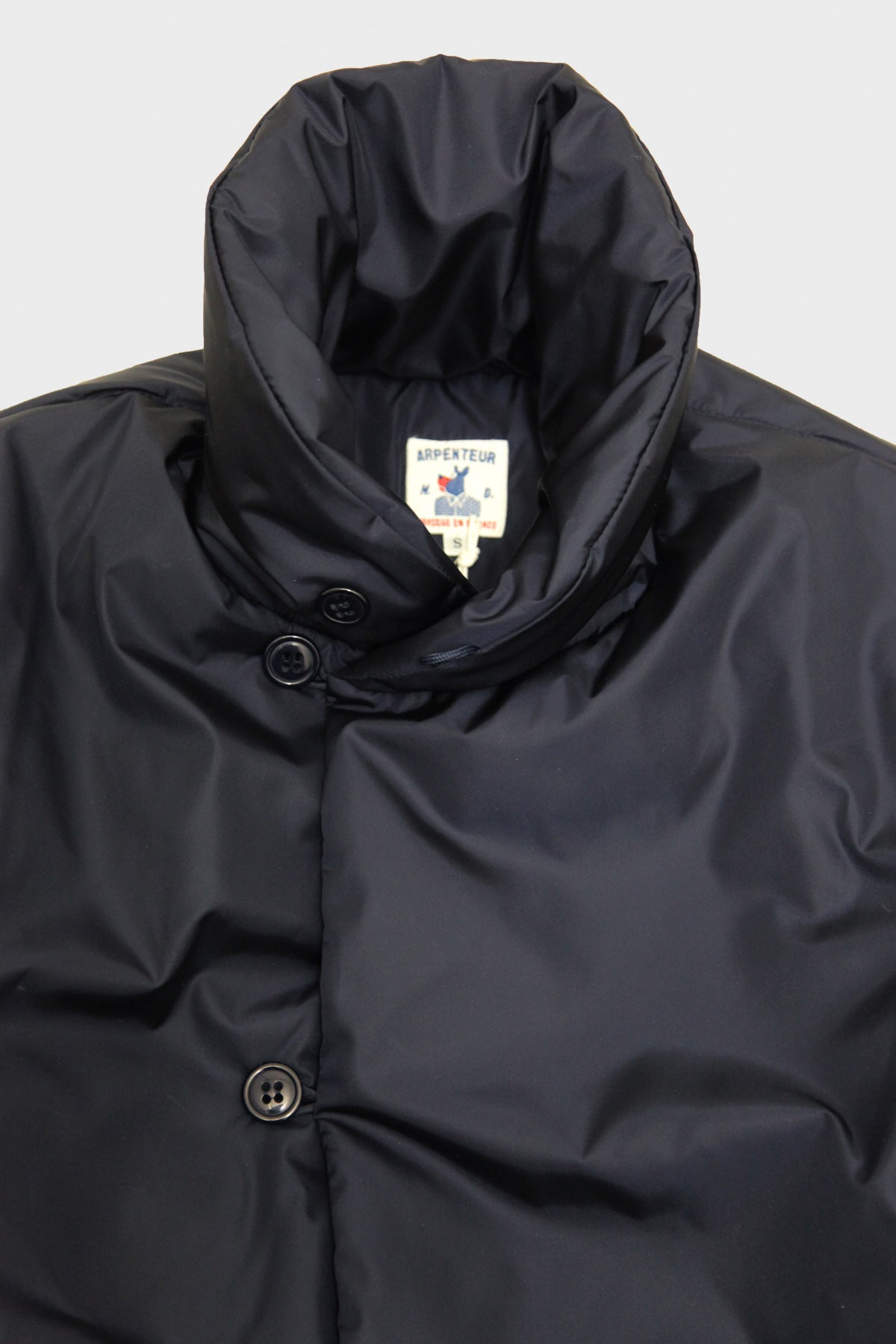 Arpenteur - Loft J. Jacket - HD Technical Nylon Primaloft Fill - Navy - Canoe Club