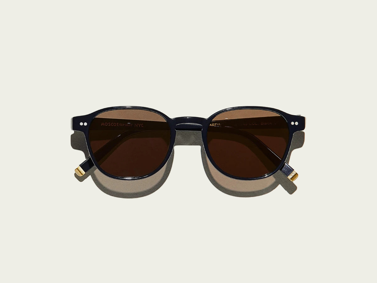 Moscot - Arthur - Black/Grey Lenses - Canoe Club