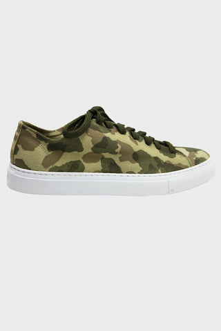 Loria Low - Green Camo Suede