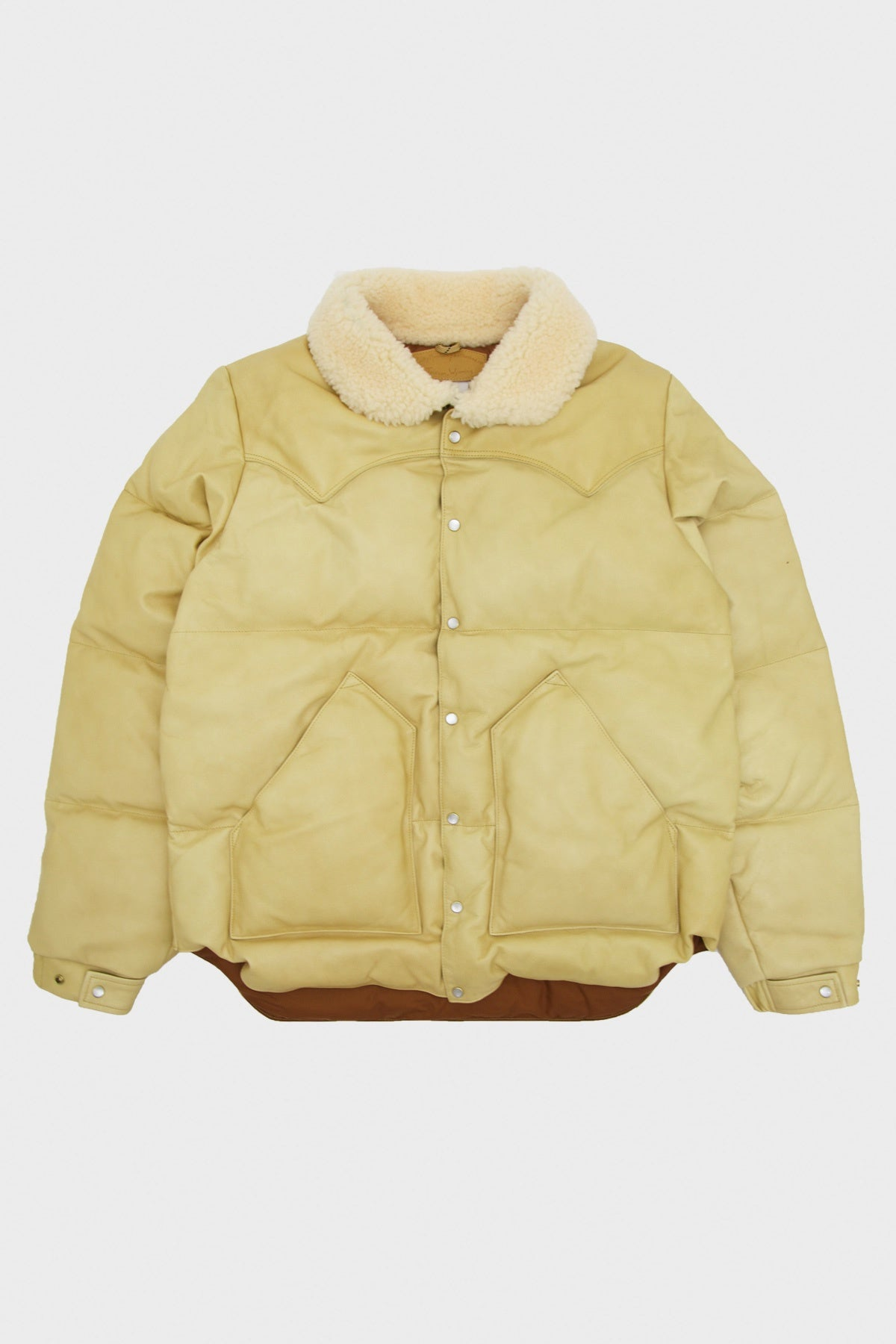 Rocky Mountain Featherbed - Leather Christy Jacket - Yellow Suede - Canoe Club