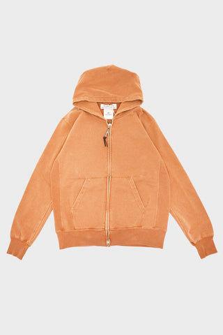 remi relief Special Finish Fleece Zipped Hoodie - Mustard
