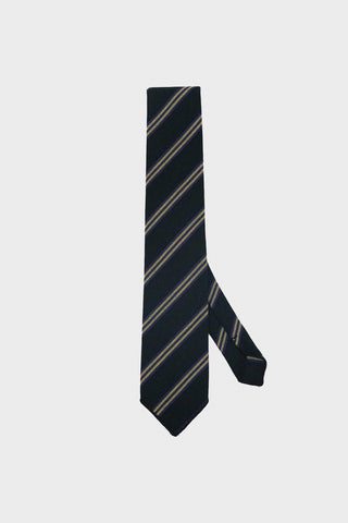 engineered garments Neck Tie - Black Heavy Twill Regent Stripe
