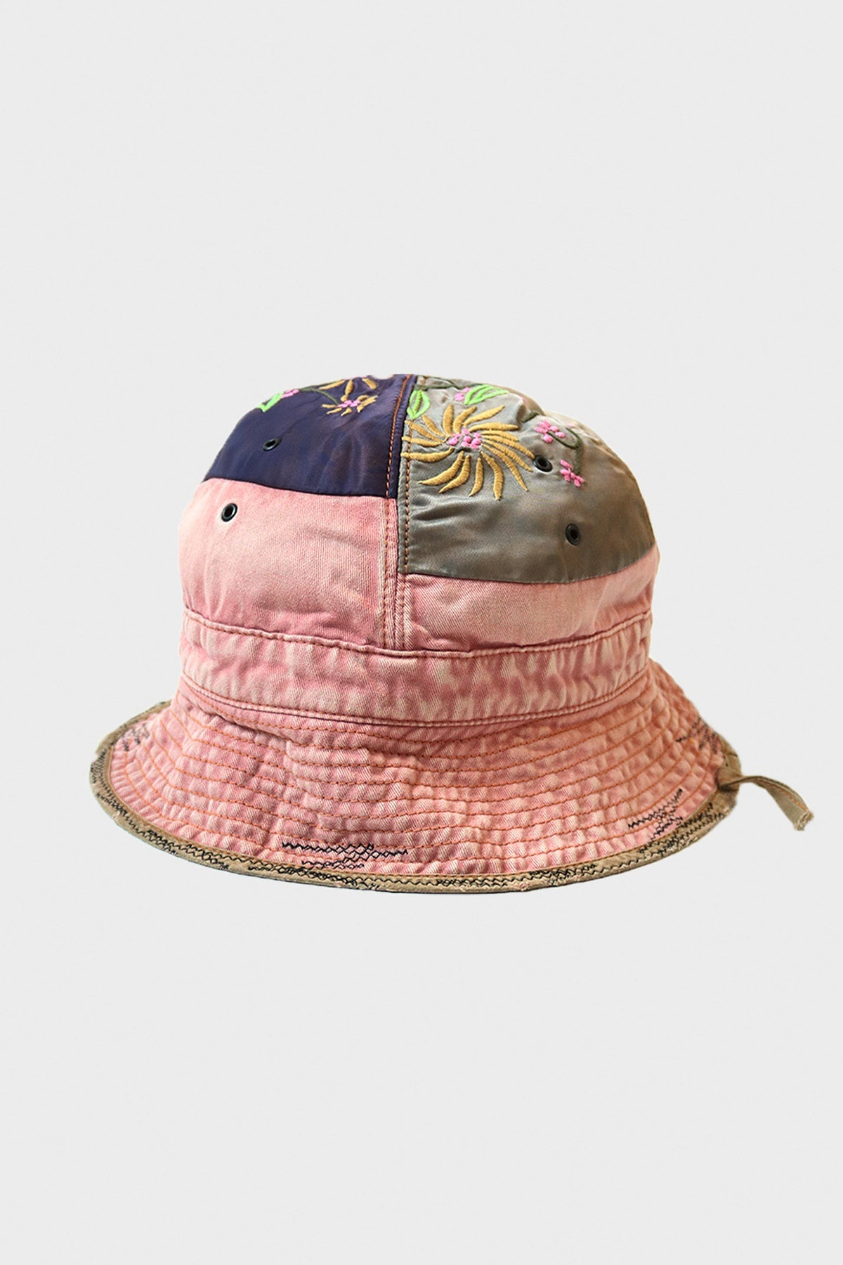 Kapital - Chino Bucket Hat (GYPSY Patch Remake) - Pink - Canoe Club