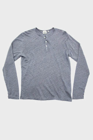 Linen Henley - Cloud