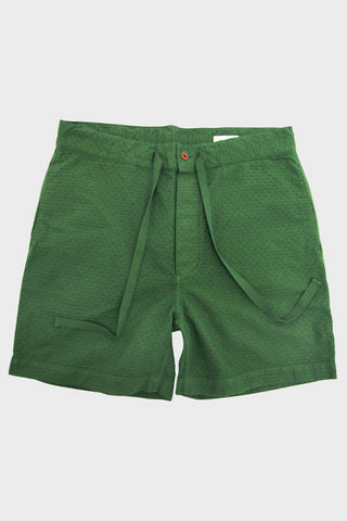Chimala Jacquard Drawstring Short- Green